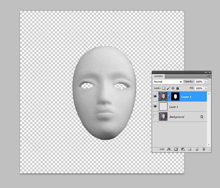 Как сделать маску в фотошопе черную