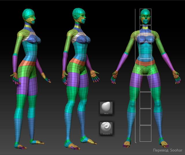 Создание персонажа воительницы Амазонки моделирование персонажа Soohar - Уроки по Фотошопу 3D графике и фотографии