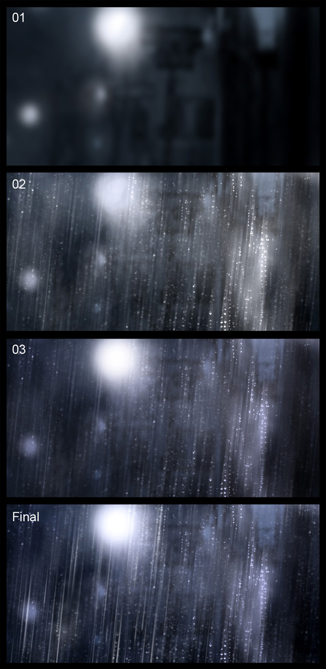 кисти дождь для фотошопа: