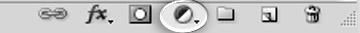 Кнопка создания корректирующего слоя