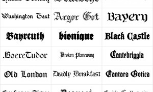 30 Готических креативных шрифтов