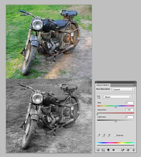 Как сделать монохромное изображение в фотошоп
