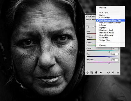 как получить черно белые фотографии в фотошопе лимфоузлы шее болят