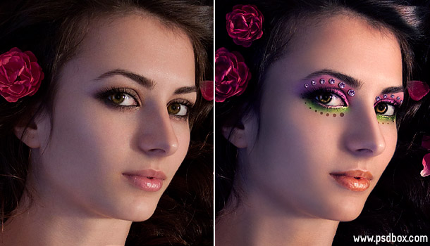Фотошоп макияж лица