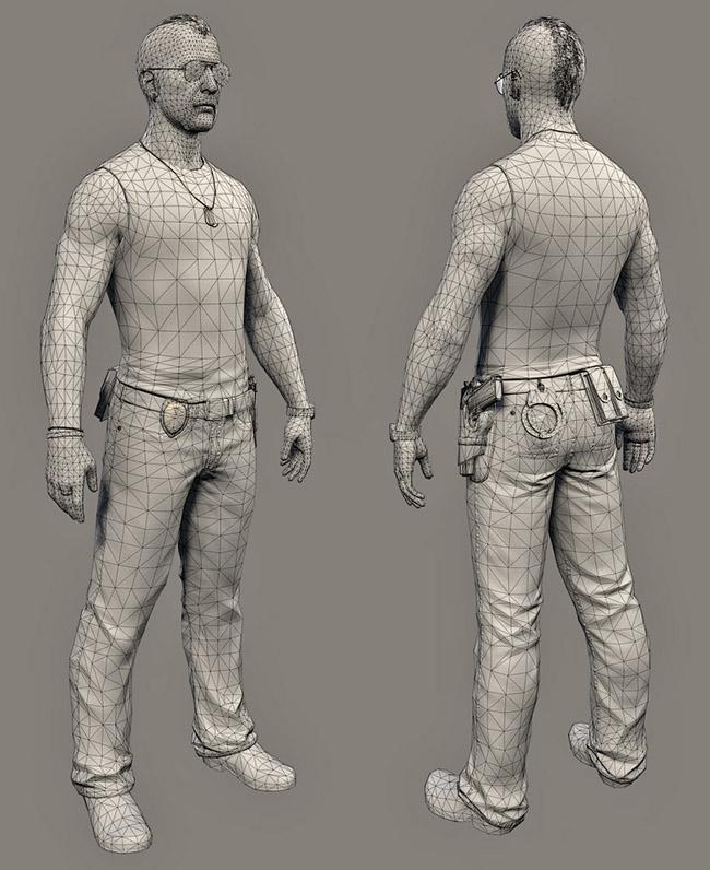 Персонаж из 25000 треугольников