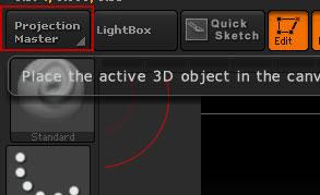 Нажмите по кнопке Projection Maste