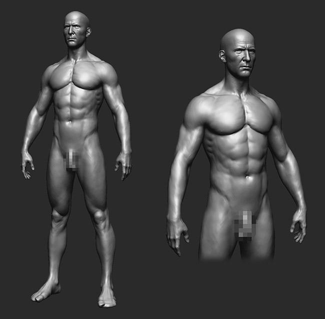 Детализированное тело