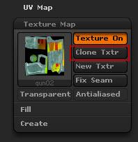 Нажмите по кнопке Clone Txtr