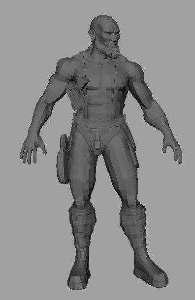 Импортируйте модель в Maya