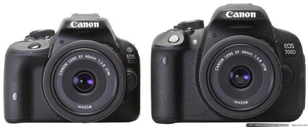 Сравнение с Canon EOS Rebel 700D/T5i