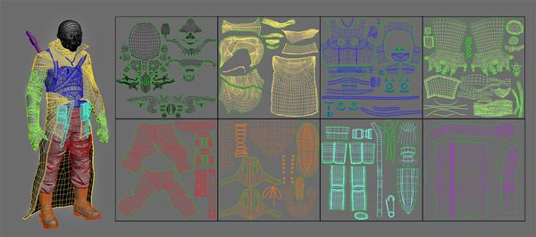 UV развертки для каждого объекта