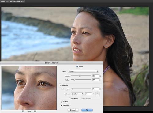 Возможности Smart Sharpen, новой версии Фотошопа cc