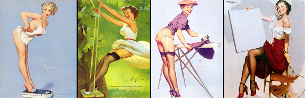 Плакаты в стиле пин-ап